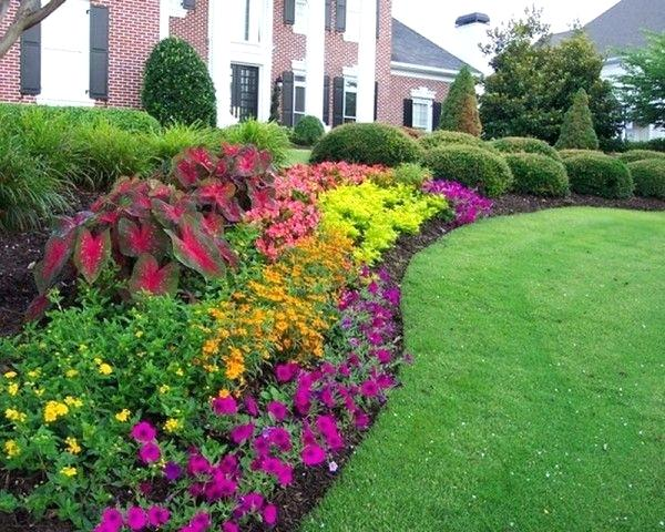 Mulch Bed Ideas Small Fron Landscaping Excellent Greenlawn By Design